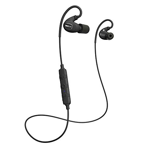 ISOtunes PRO 2.0 Bluetooth Earplug Headphones, 27 dB Noise Reduction Rating, 16+ Hour Battery, IP67 Durability, Noise Cancelling Mic, OSHA Compliant Professional Hearing Protector (Matte Black)