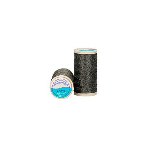 Jassen Nylbond Naaien & Kralen draad (Bonded Nylon) Voor jeans, leer, elastische stoffen & sieraden maken - Groen / Grijs 7034