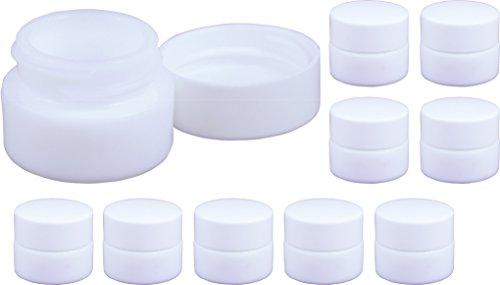 10 Opal Glasdöschen, Salbendöschen, Creme-döschen, 5ml Inhalt - Made IN Germany