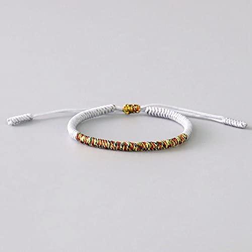 Handmade Tibetan Buddhist Lucky Bracelets & Bangles For Women Men Rope Knots Amulet Gift Tibet Braided Bracelet-C