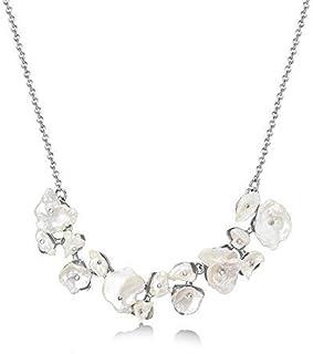 Mestige Women Brass Amora Pearl Necklace, 41 cm - MSNE3837