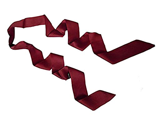 keland Damenmode weichen schwarzen dünnen Abschnitt engen Schal Krawatte Halskette Kragenband (Burgundy)