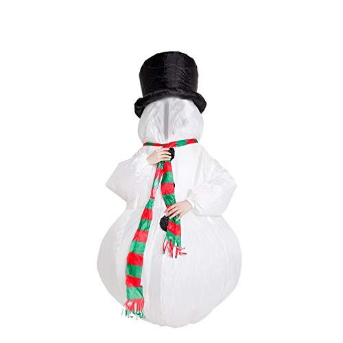 Amosfun Schneemann Kostüm Weihnachten aufblasbare Kostüm Schneemann Cosplay Kleidung Leistung Kostüm Szene Prop für Erwachsene Xmas Party Supplies