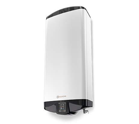 ELDOM Termo Eléctrico 80 litros | Calentador de Agua Horizontal izquierda, Serie Premium Eco, Instantaneo - Aislamiento de alta densidad