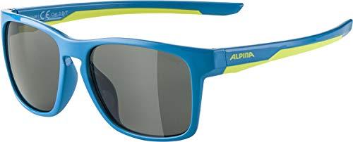 ALPINA Unisex - Kinder, FLEXXY COOL KIDS I Sonnenbrille, blue-lime, One size
