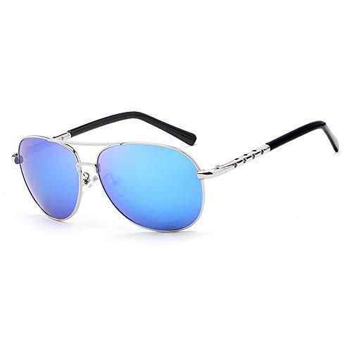 ZJN-JN Gafas de sol de sol polarizadas de moda de gafas de sol de color de película de color grande, gafas de conducción para hombre para montar a la moda gafas (color: 04 azul)