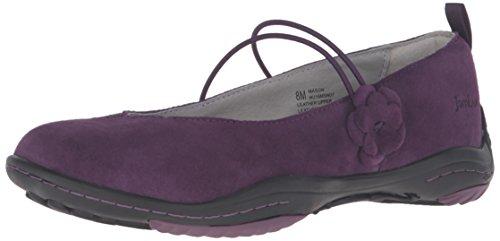 Jambu Women's Mason Mary Jane Flat Purple 6 M US