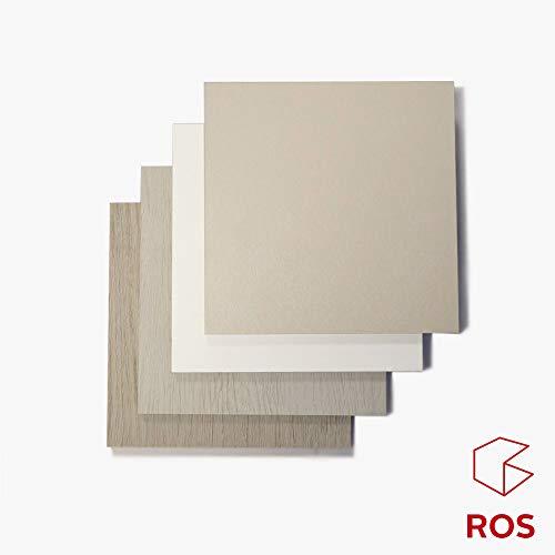 Meubles ROS Pack de 4 échantillons de Panneau de Bois mélaminé de Chêne Clair/Chêne foncé/Terre/Blanc
