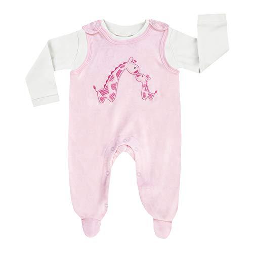 Jacky Baby Strampler Set Giraffe, Stickerei, rosa-weiß, Gr. 50-68 Größe 50