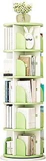 Bibliothèque 5-Shelf Revolving, Bibliothèque créative Organisateur de Stockage Compact à Permanence pour CD, Records, Livr...