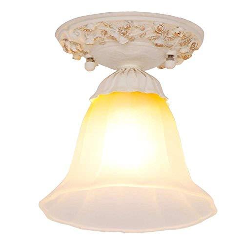 Estilo europeo, 1 luz, iluminación de techo, lámpara de iluminación, base de metal,...