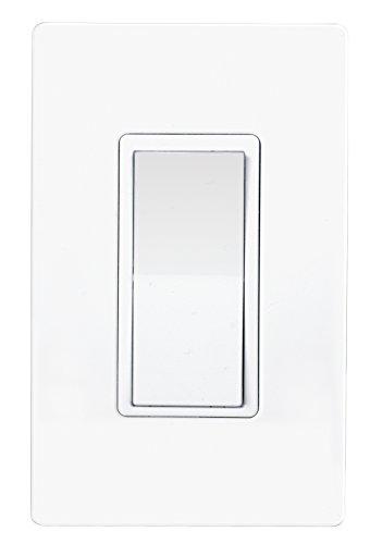 Satco 86/102 ZWAVE IN WALL LIGHT SWTICH, Color blanco interruptor de luz