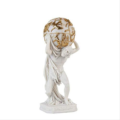DOUYA Ornamenten Voor Woonkamer Nordic hars Plakken Gouden folie Wit Venus Titans Figuur Sculptuur Decoratie Club Lobby Art Decoratie Accessoires