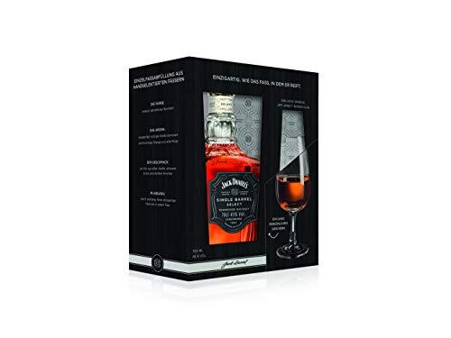 Jack Daniel's Single Barrel Select Tennessee Whiskey mit Nosing-Glas, Geschenkset Single Malt Whisky (1 x 0.7l)