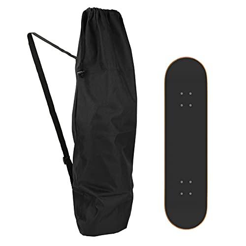 icyant Skateboard-Tasche, dicker 600D-Oxford-Skateboard-Rucksack, wasserdicht, tragbar, mit verstellbarem Gurt, für universelle Skateboard, Reisen, Sport, Aufbewahrung (schwarz)