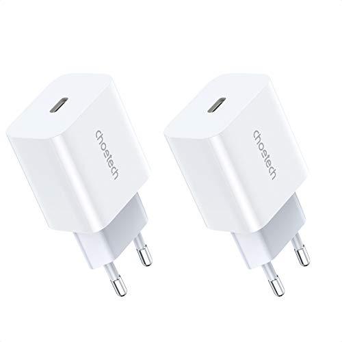 USB C Ladegerät 20W ,CHOETECH USB C Netzteil Power Adapter Schnellladegerät 20W Stecker Fast Charger Ladeadapter 3.0 kompatibel für iPhone 12/Pro/ Mini/12 Pro Max/11,AirPods Pro,Pad Pro 2 Pack