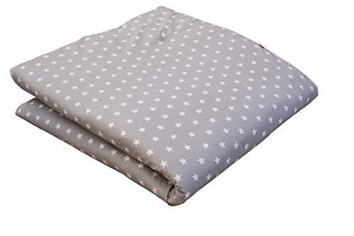 Ideenreich Baby Krabbeldecke King Size| Sterne grau ideal als Spieldecke, Krabbeldecke und Laufgittereinlage, 2283, 150x180