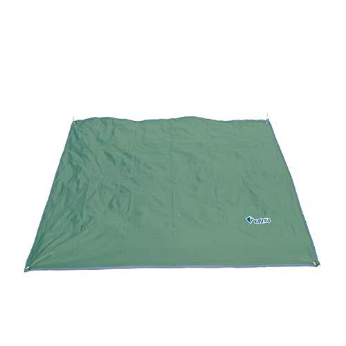Azarxis Lona de Tienda de Campaña Impermeable Toldo de Camping Portátil Huella Hoja de Suelo Refugio Manta de Sombra Estera para Playa Acampar Picnic (Verde Oscuro, S - 1,5 x 2,2m)
