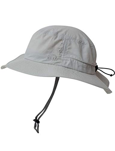 iQ-UV Erwachsene Safari Hat Sonnenhut, Grey, 55-61cm