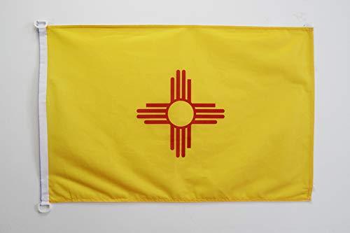 AZ FLAG Flagge New Mexico 90x60cm - Bundesstaat New Mexico Fahne 60 x 90 cm Aussenverwendung - flaggen Top Qualität