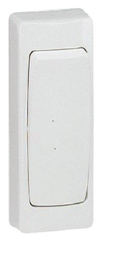 Legrand 097601 Zweiwegeschalter Schmale Version Aufputzgetriebe, weiß
