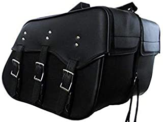Sturgis-Mid-West Genuine Cowhide Leather Saddlebags for Harley dyna superglide Low Rider 212