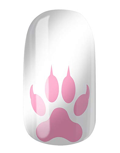 VENGANAILS Nagelfolie - Wolf Paws Baby Pink, High Performance Nail Wraps, zelfklevend, geen import uit China