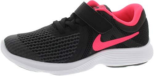 Nike Unisex-Kinder Laufschuh Revolution 4, Schwarz (Black/Racer Pink. 004), 27.5 EU