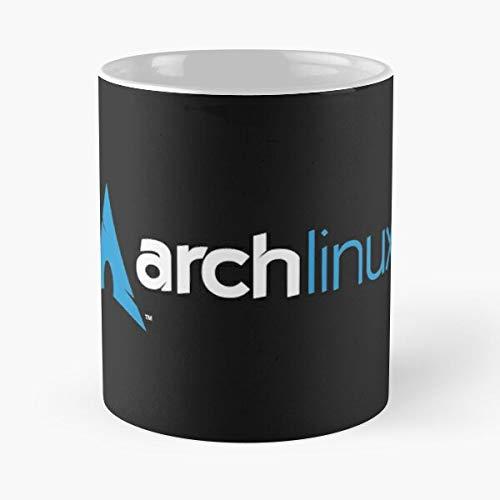 Taza de café con diseño de sistema operativo Macintosh Fedora Linux Arch Os Programming Tux Debian Ubuntu Best, 350 ml