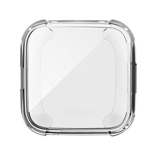 Preisvergleich Produktbild Provide The Best Ersatz für Fitbit Versa Smart Watch Full Cover Armbanduhr-Display Schutz Uhr Abdeckung Fall Schirm TPU Schutzschale