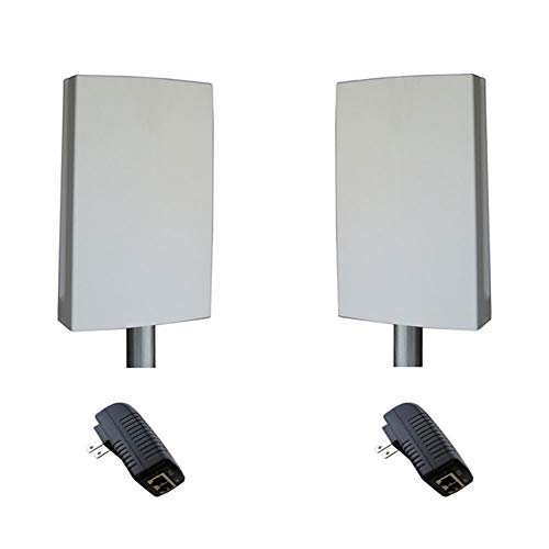 Tycon Wireless EZBR-0516+ EZ-Bridge 5GHz Outdoor Point to Point with 2X 16dBi MIMO Antennas 802.11an Built-in and 2X PoE Power Inserters