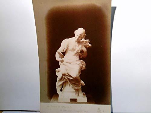 Salons de Paris A. F. - M. Béguine : Coquetterie. Alte AK s/w. Skulptur, Frau mit Handspiegel, Kunst
