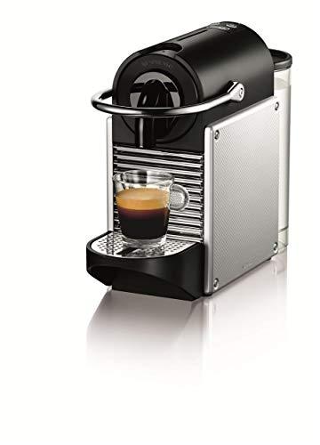 Nespresso De'Longhi Pixie EN125S - Cafetera monodosis de cápsulas Nespresso, 19 bares, apagado automático, color plata