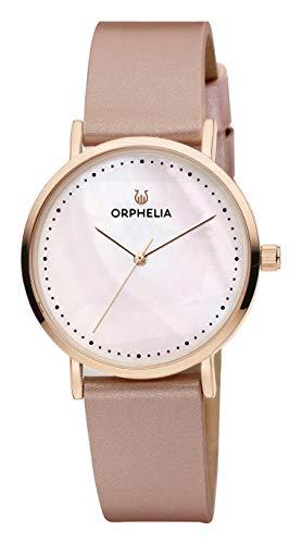 Orphelia Damen-Armbanduhr Fronte di marmo Analog Quarz Leder
