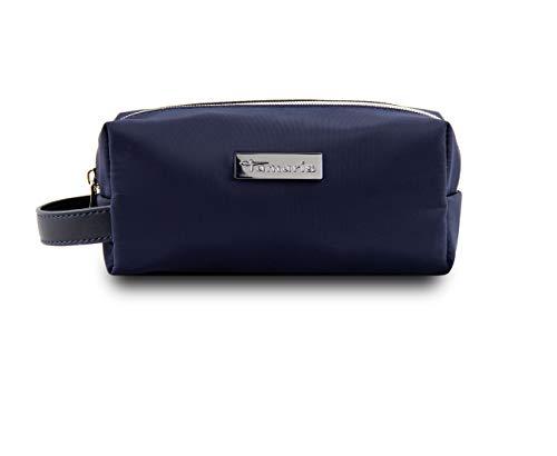 Tamaris Perfect Kleine Kosmetiktasche Damen für die Handtasche, Schminktasche Make Up Tasche mit Reißverschluss und Tragegriff, Navy Blau