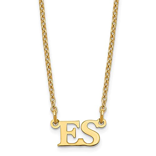 Jewelry-Sterling Silver/Gold-plated Small Initial Necklace