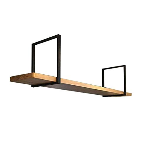 Zwevende rekken industriële stijl planken plafond hanger woning parketvloer smeedijzer hangende wand frame restaurant/bar zwart wandrek 80x30x50cm Board Thickness 3cm