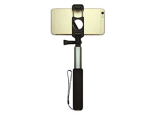 Networx Selfiestick Mila, für Smartphones, mit Spiegel, schwarz