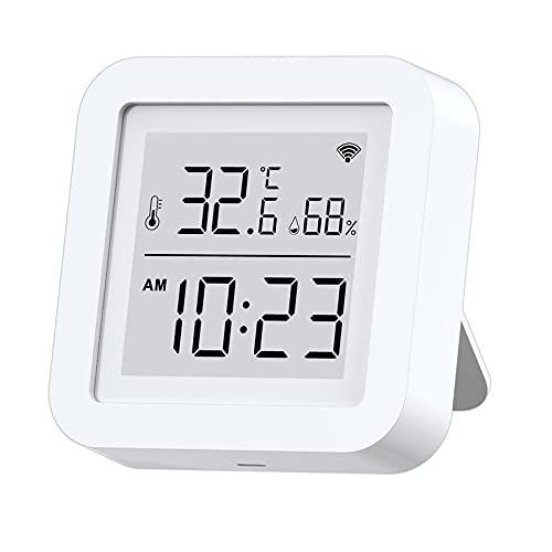 STARMOON Termómetro Higrómetro interior, monitor de humedad de temperatura WiFi con pantalla LCD, compatible con Alexa y Google Assistant, APP Remote Monitor