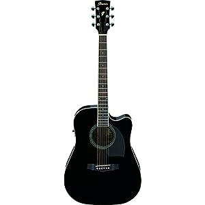 Ibanez PF15ECE - BK, 6 -Strings Acoustic Guitar 1