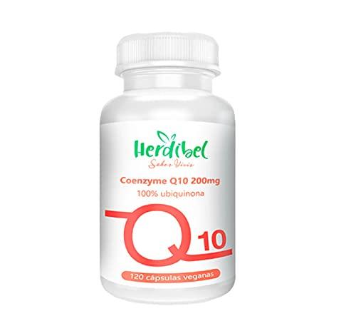 Coenzima Q10 200 mg, 120 cápsulas - Fermentación Natural y Vegana - 100% CoQ10 ( ubiquinona )