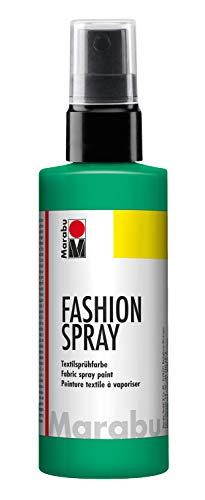 Marabu 17190050158 - Fashion Spray apfel 100 ml, Textilsprühfarbe, m. Pumpzerstäuber, für helle Textilien, weicher Griff, einfache Fixierung, waschbeständig bis 40°C, tolle Effekte auf Stoff