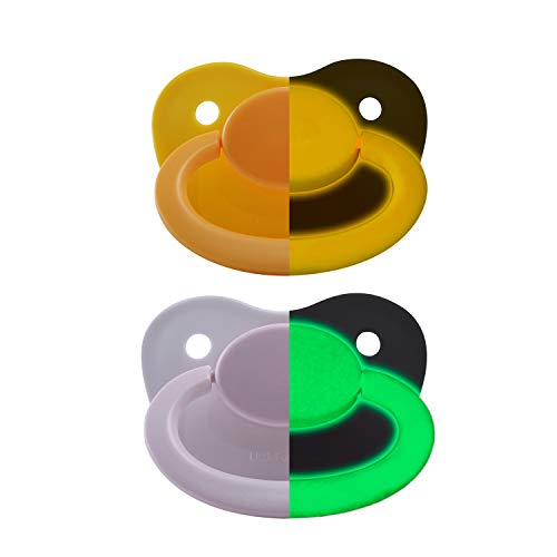 LittleForBig 大人用おしゃぶり 蛍光色付 夜光 2個セット【ママの乳首を再現】