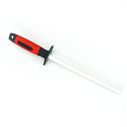 Schärfstab,Keramik (Körnung 400/1000) Messerschärfer für Grob- / Feinhonen38cm, Schleifstab für Messer und Scheren, aus feiner Keramik hergestellt Diamant Wetzstab