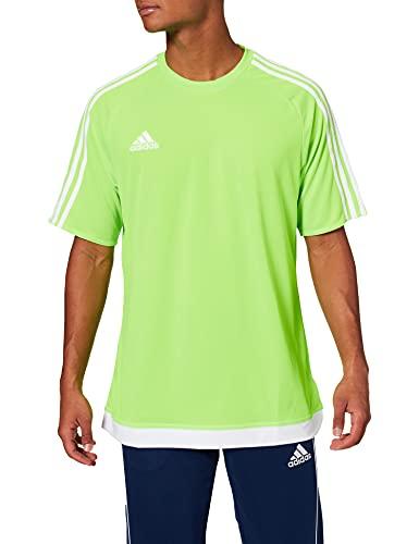 adidas Estro 15 JSY - Camiseta para hombre, color verde/blanco, talla L