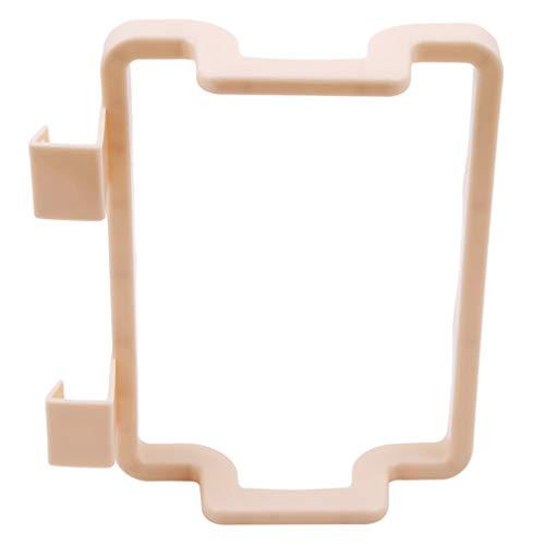 HYhy Küchenmüllbeutelhalter Handtuchhalter Kunststoff-Hängegestell Küchenschranktür-Rückengestell,Beige
