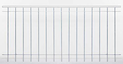 ELEO Gartenzaun Ancona I aus massivem Schmiedeeisen - langlebig & witterungsbeständig I dekorative & hochwertige Zaun-Elemente - inkl. Schrauben I Länge 192,5 cm - feuerverzinkt