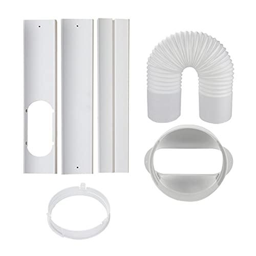 Aire Acondicionado portátil Ventana Adaptador Adaptador de Escape Conector de Manguera Ventana Sellado Aire Acondicionado móvil Accesorios (Color : Silver)
