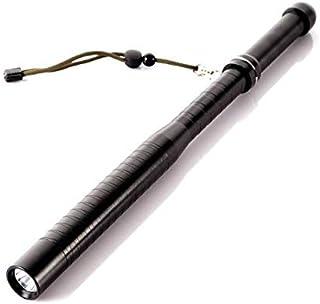 عصاة q5 للدفاع عن النفس وبتصميم مضرب بيسبول ومزودة بمصباح ال اي دي 800 شمعة وببطارية 18650