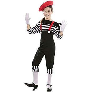 EUROCARNAVALES Disfraz de Mimo Circo para niña 5 a 6 años: Amazon ...